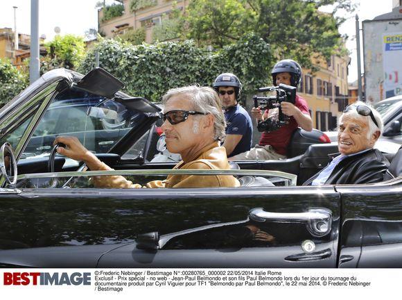 """Exclusif - 1er jour du tournage à Rome du documentaire produit par Cyril Viguier pour TF1 """"Belmondo par Paul Belmondo"""""""