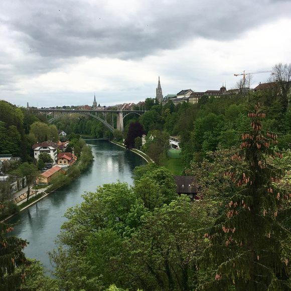 Pohled na Bern - s mostem z filmu