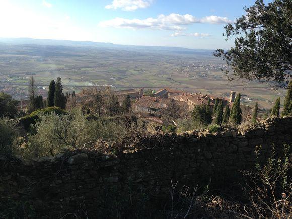 Pohled na toskánskou krajinu z Cortony