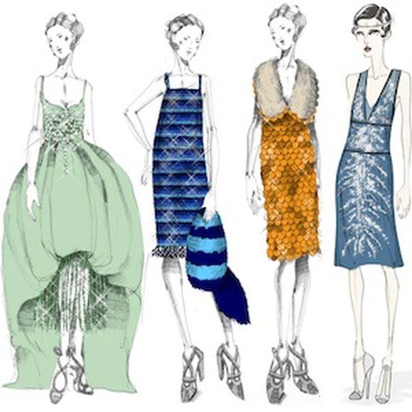 Miuccia Prada - šaty užité pro film Velký Gatsby
