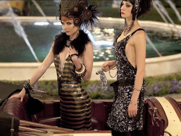 Šaty na party pro film velký Gatsby od Prady, foto Warner Bros