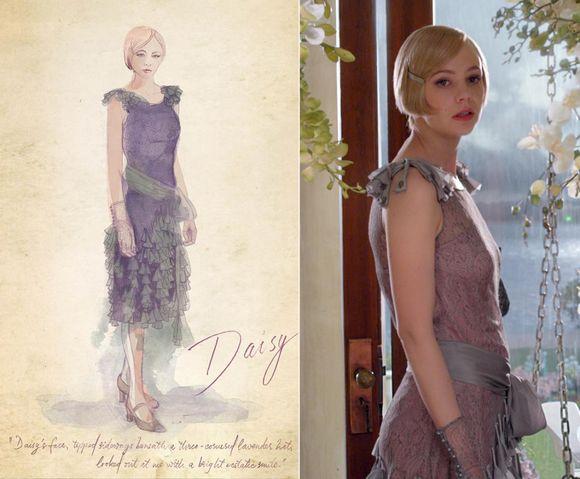 Návrh a provedení - šaty pro film Velký Gatsby od Catherine Martin, Warner Bros