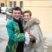 Pavel Trávníček a berlínská zpěvačka Ella Endlich na výstavě kostýmů na Moritzburgu